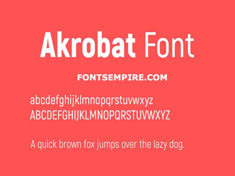 Akrobat Font Family Free Download