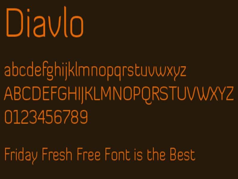 Diavlo Font Family Free Download
