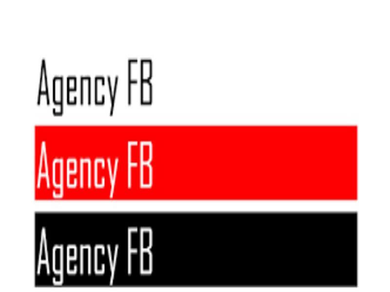 Agency FB Font Family Free
