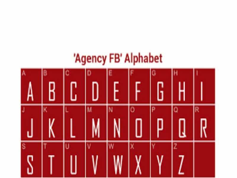 Agency FB Font Family