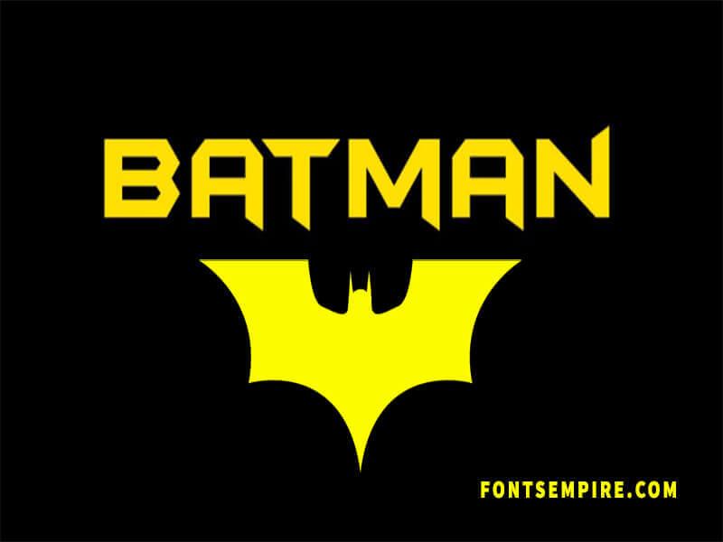 Batman Font Family Free Download