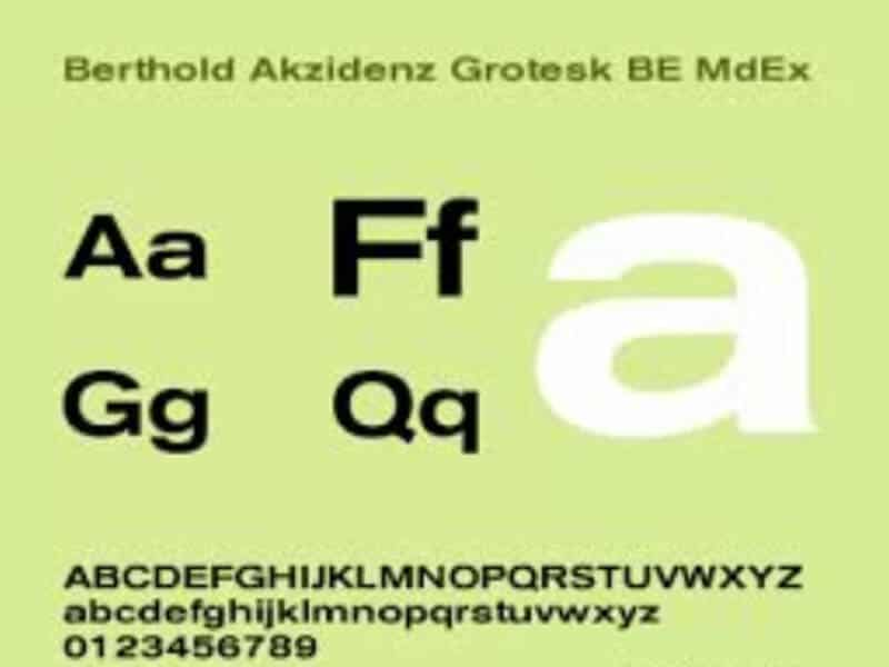 Berthold Akzidenz Grotesk Font