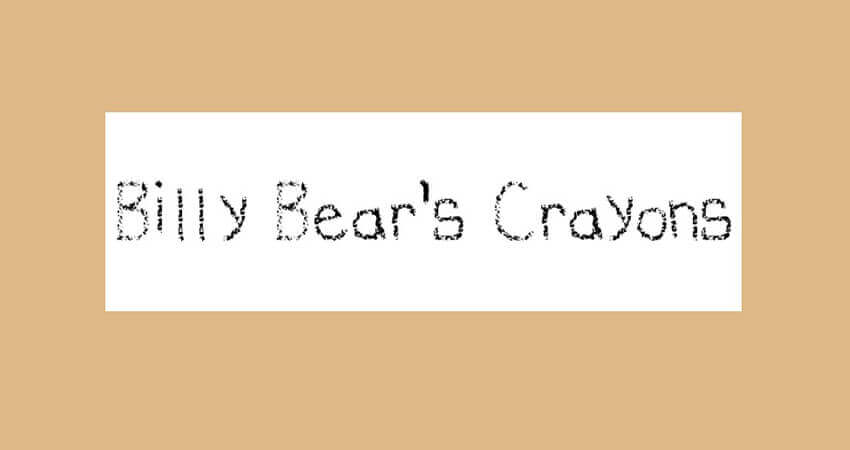 Billy Bear's Crayons Font Free Download