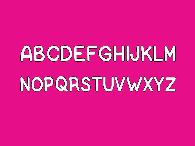 Bubble Letter Font Free Download - Fonts Empire