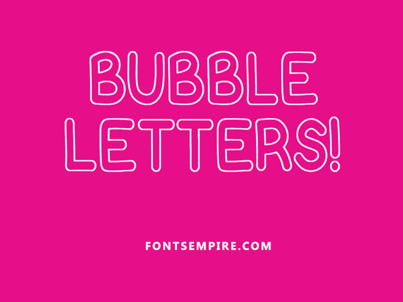 Bubble-Letters-Font Family Free Download