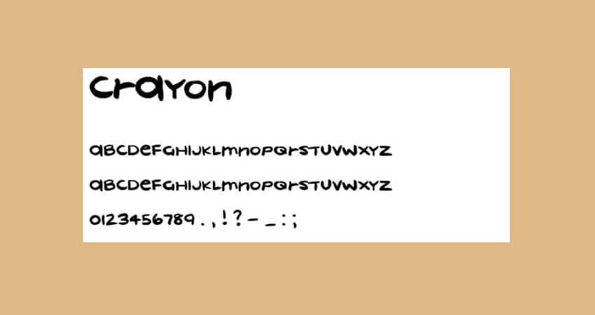 Crayon Paint Font Free Download