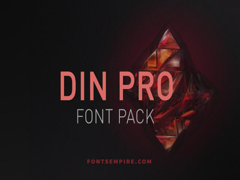 Din Pro Black Font Free Download Dinpro Black Download For