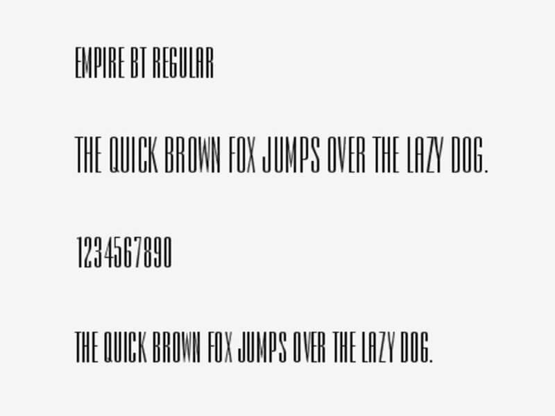 Empire Bt Font Download