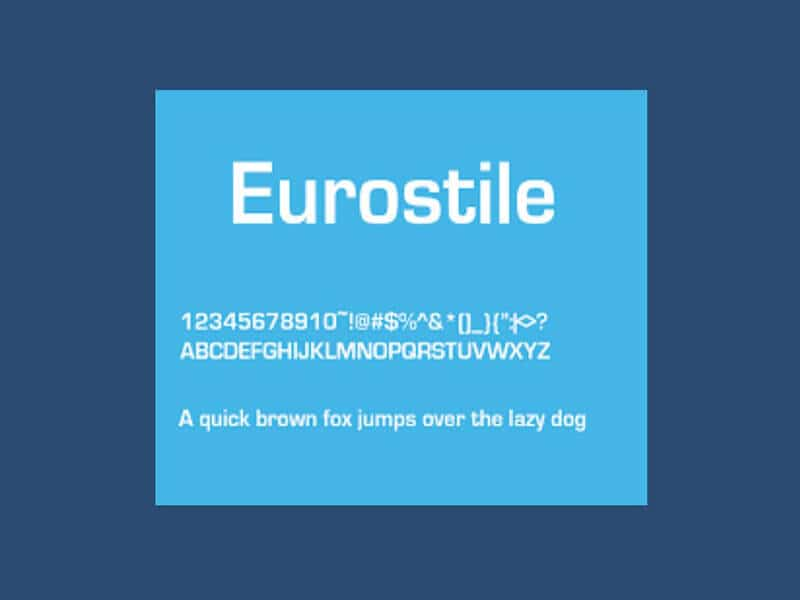 Eurostile Font Family Free Download - Fonts Empire