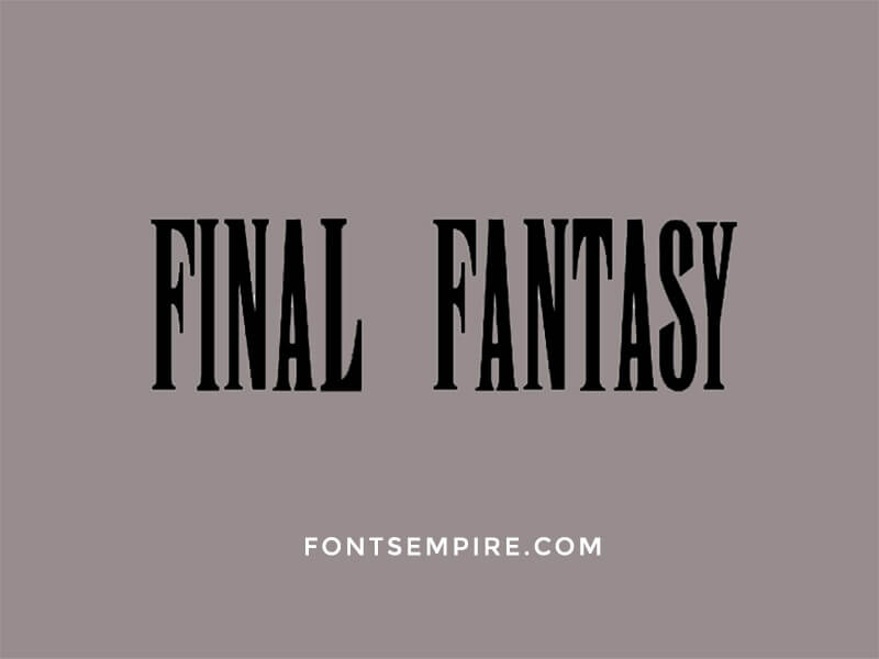 Final Fantasy Font Family Free Download