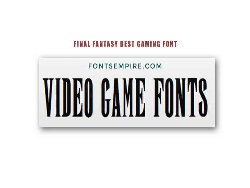 Final Fantasy Font Free Download