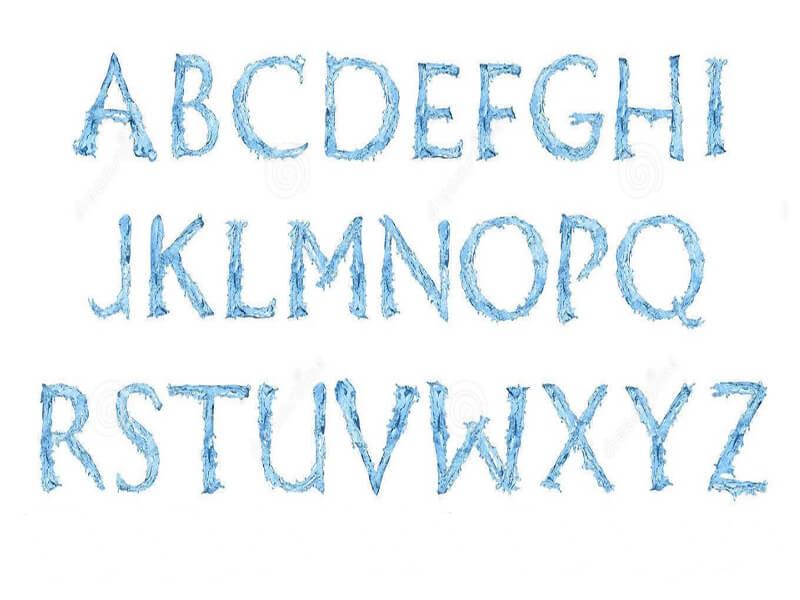Frozen Font Family Letters