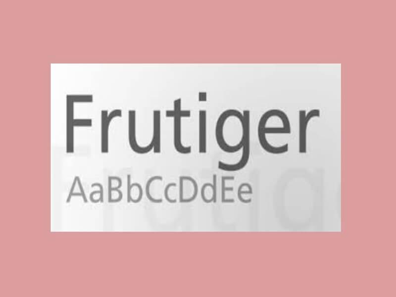 Frutiger Font Download
