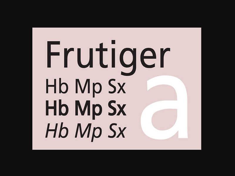Frutiger Font Family