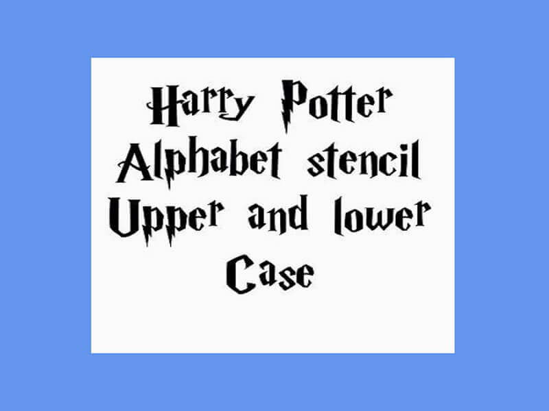 Harry Potter Font Design