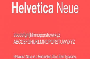 Helvetica Neue Font Family Free Download