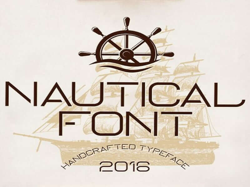 Nautical Fonts Family Free Download