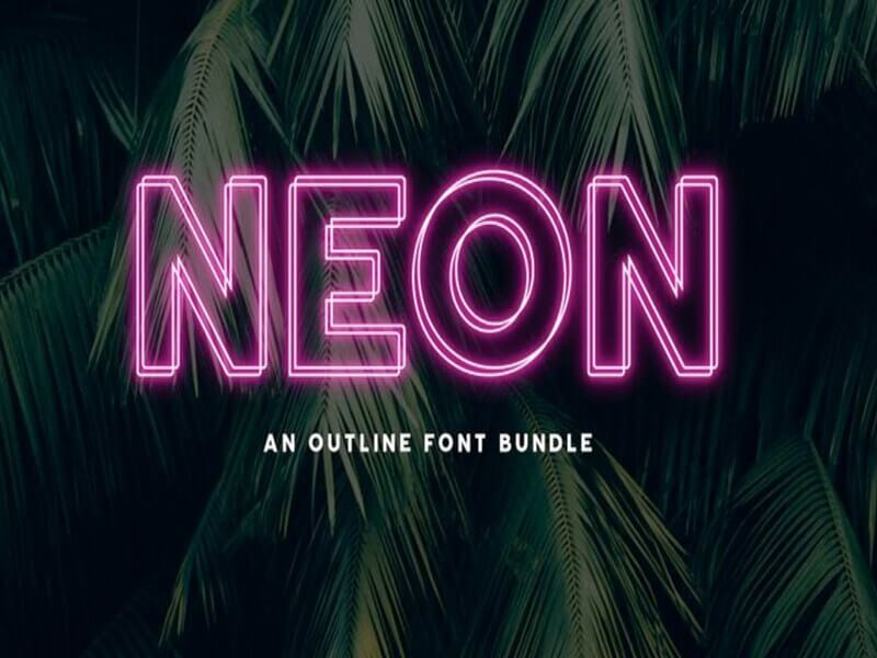 Neon Font Family Free Download