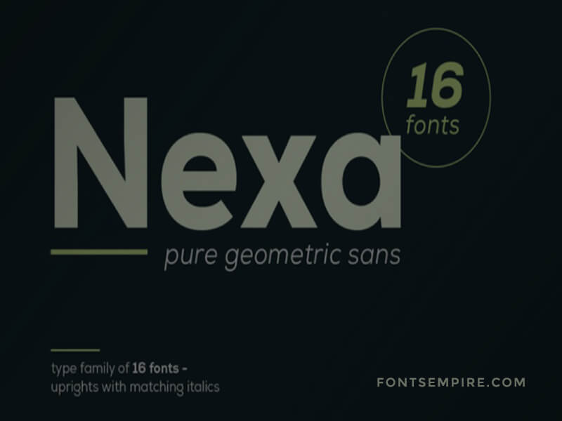 Nexa Font Family Free Download