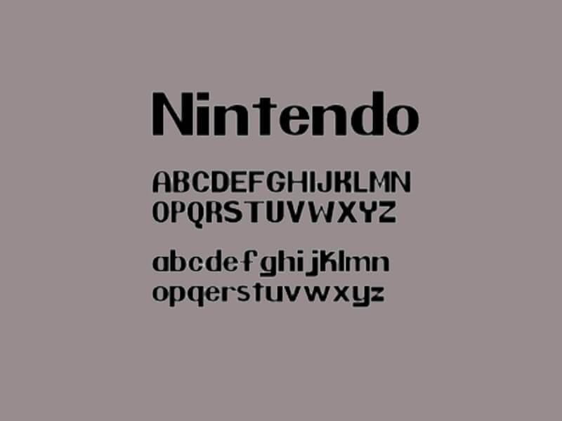 Nintendo Font Letters