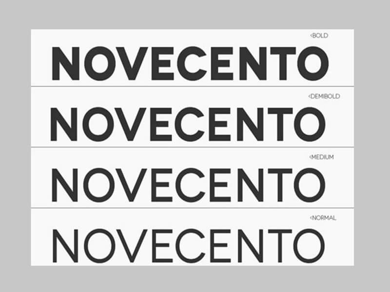 Novecento Font Family Download