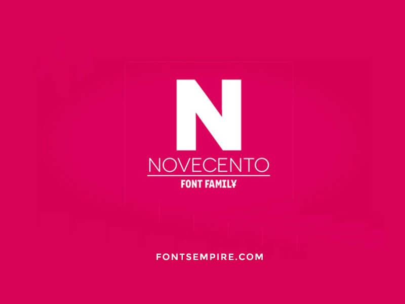 Novecento Font Family Free Download