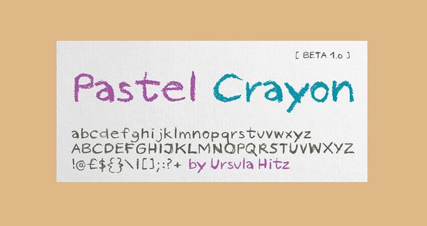 Pastel Crayon Font Free Download