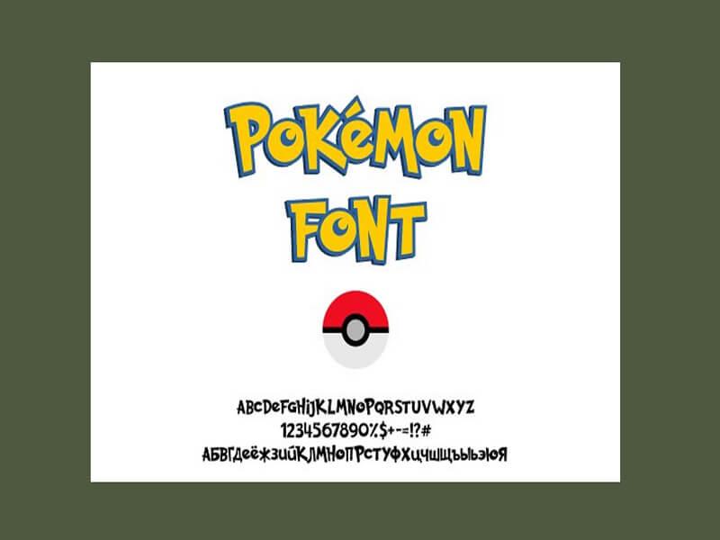 Pokemon Font Family Free Download
