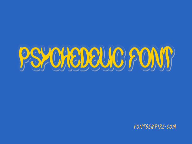 Psychedelic Font Family Free Download