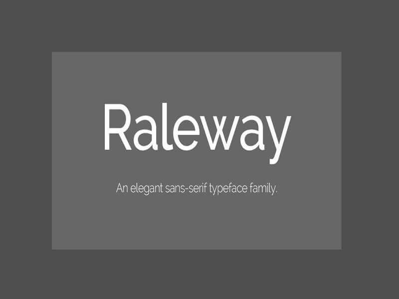Raleway Font Family Free Download