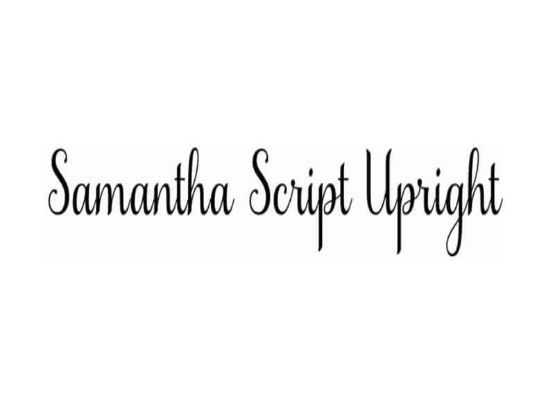 Samantha Font Download by Laura Worthington