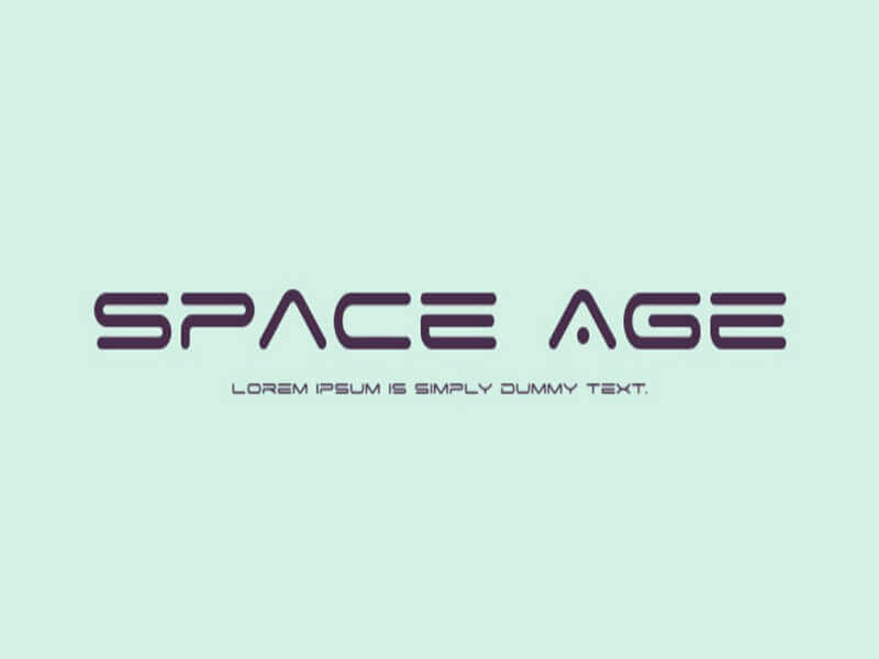 Space Age Font Family Free Download