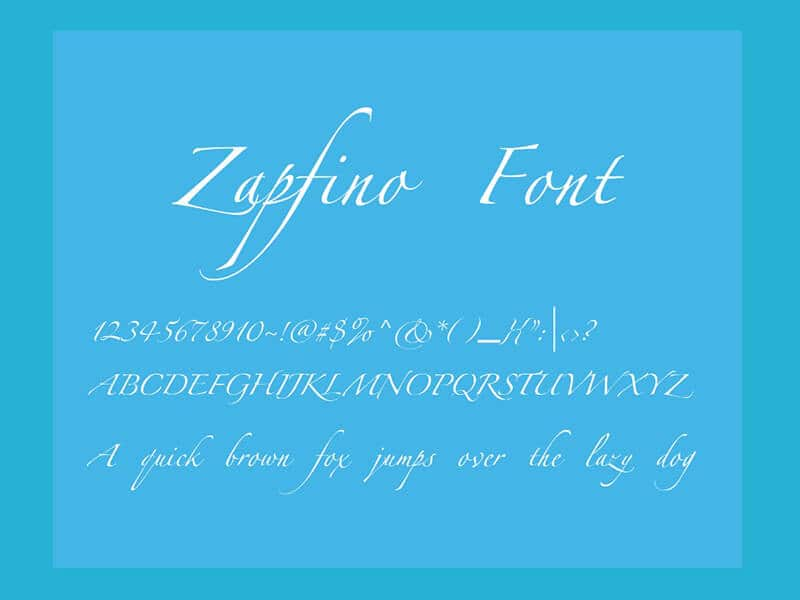 Zapfino Font Family Free Download