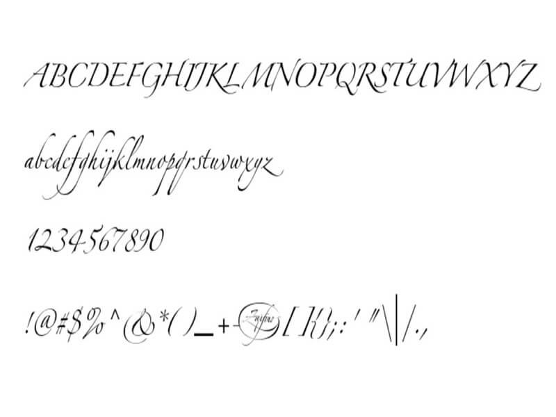 Zapfino Font Family