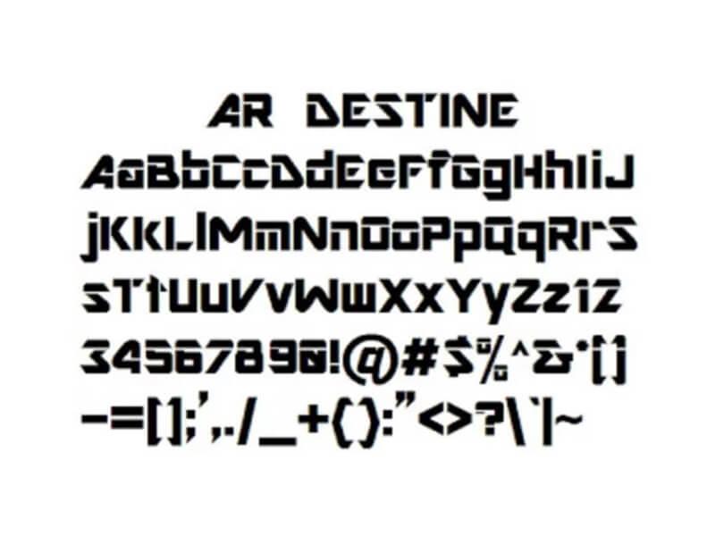 AR Destine Font Download