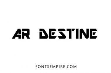 AR Destine Font Free Download