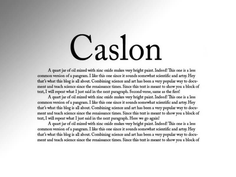 Adobe Caslon Font Download