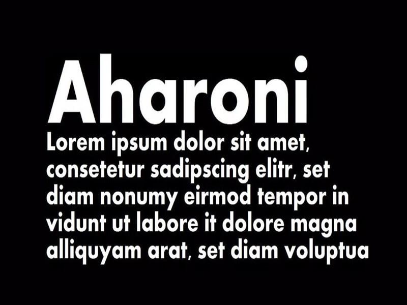 Aharoni Font Family Free