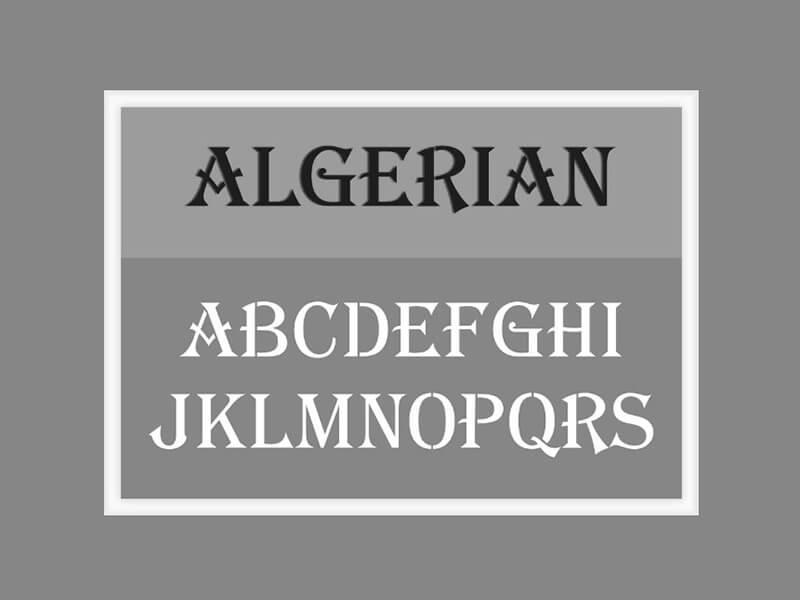 Algerian Font Free Download