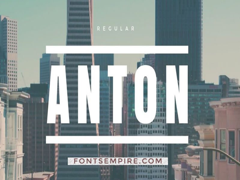 Anton Font Family Free Download