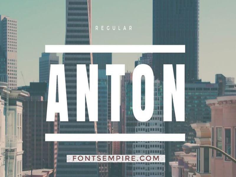 Anton Font Family Free Download