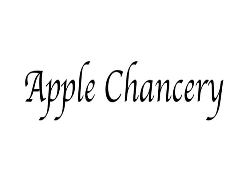 Apple Chancery Font Download