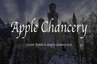 Apple Chancery Font Family Free Download