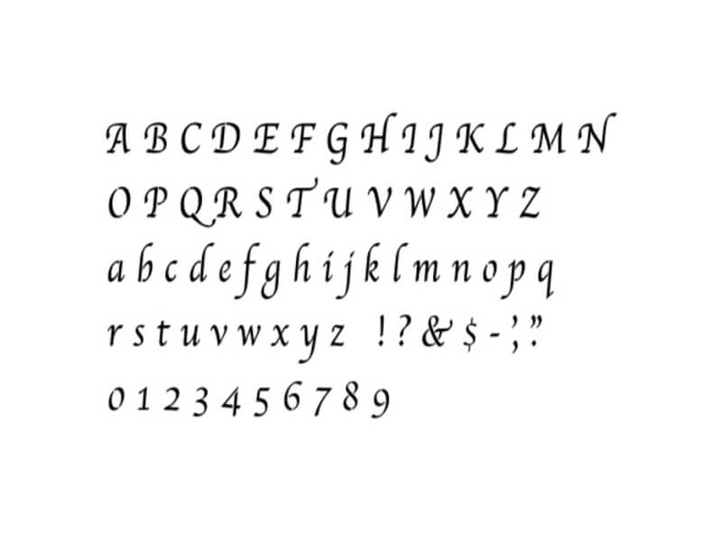 Apple Chancery Font