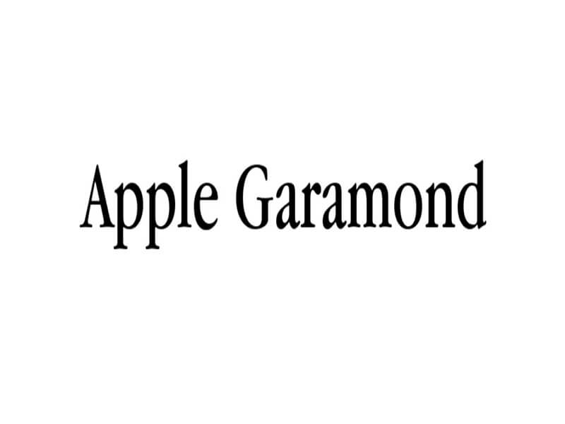 Apple Garamond Font Family Free Download