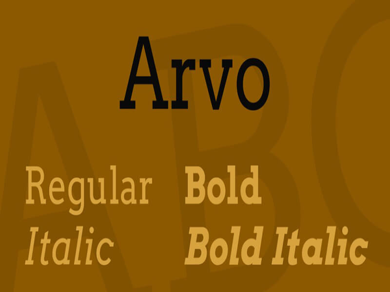 Arvo Font Download