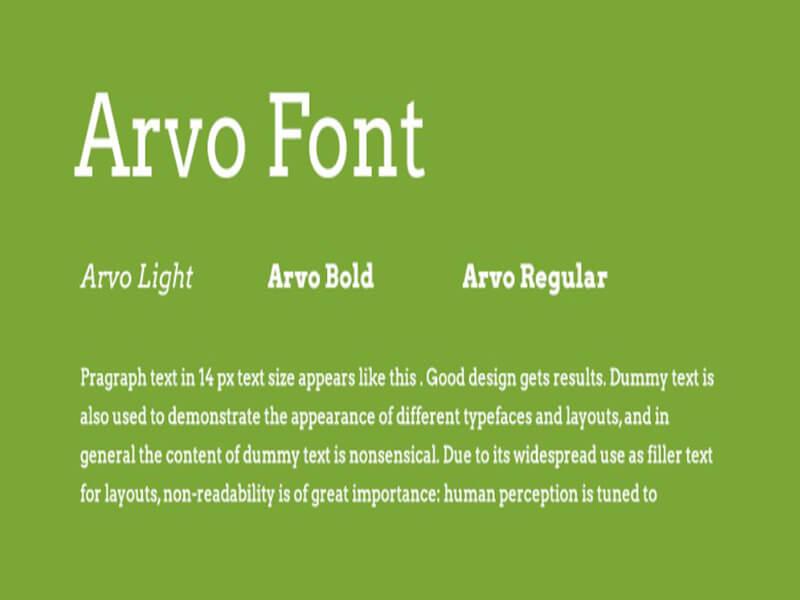 Arvo Font Family Download