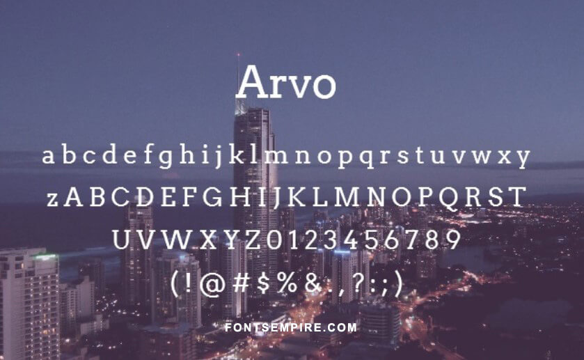 Arvo Font Family Free Download