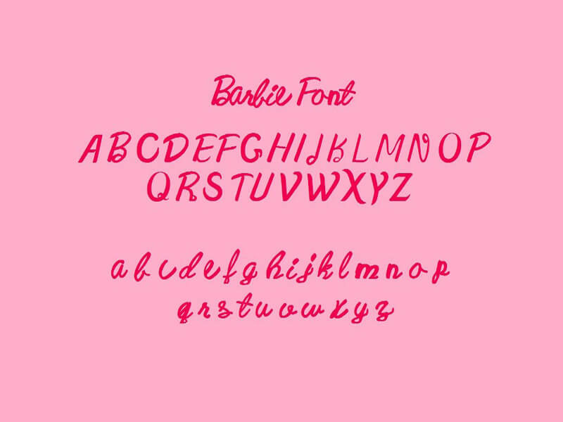 Barbie Font Beta Download
