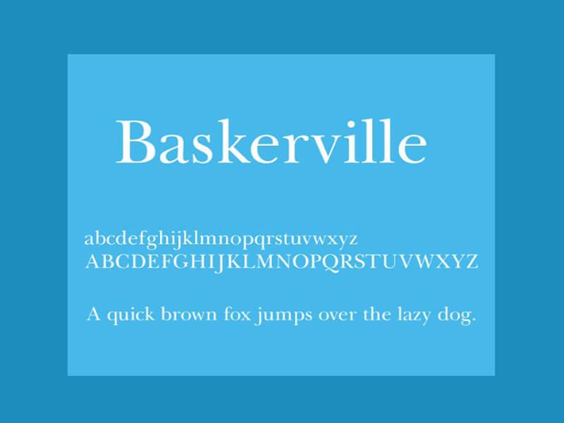 Baskerville Font Family Free Download